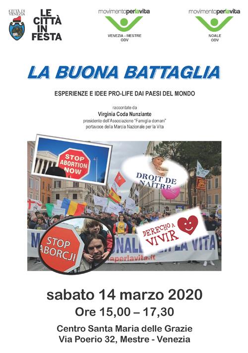 La buona battaglia - Mestre - 14 Marzo 2020